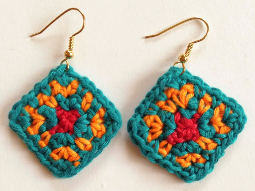The Colors of Africa Crochet Earrings