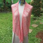 Resolute Spirit Crescent Shawl, Mulberry Silk, IDR2.5K