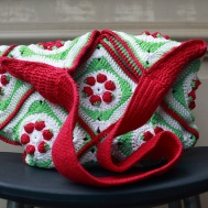 Sample only, bag made with strawberry crochet granny
