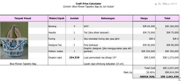 Craft Price Calculator JuliS