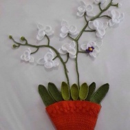Crochet Moon Orchid by CR Customer