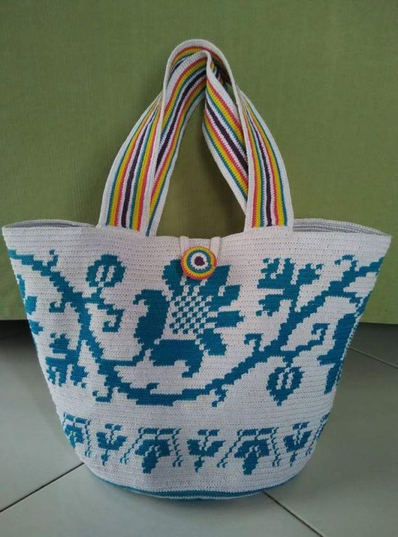 Tapestry Crochet Bag by Juli Subari Art