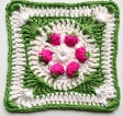 Strawberry Granny Square USD5