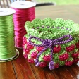 Strawberry Crochet Bowl USD5