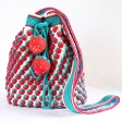 Strawberry Crochet Bag (round base) USD5