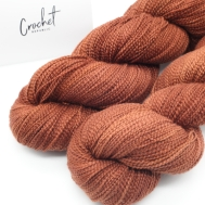 cotton crepe solid brown